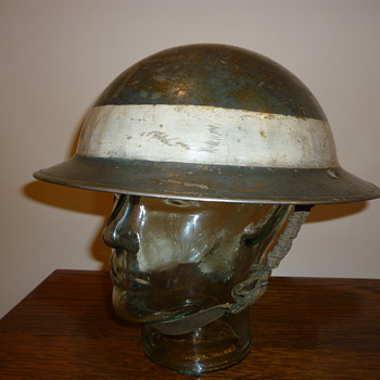 British WWII Auxiliary Fire Service Senior officer steel helmet.