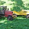 Vintage Unrestored Pedal Cars - Hot Rod and Casey Jones Locomotive by Garton