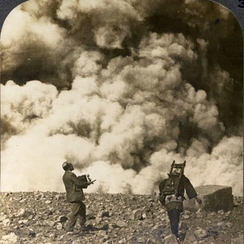 "Photographers & Their Cameras - ""A Sudden, Terrific Volcanic Explosion at the Crater of Asama-Yasma""; Japan. 1903"