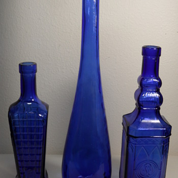 Cobalt Blue Glass Bottles ~ Made in Spain