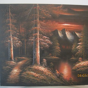M. Scott Raised Relief Painting - Visual Art