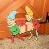 Vintage Elves on Wood Backing