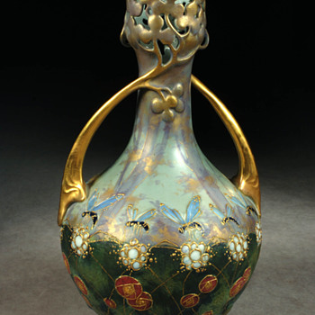 Amphora Wasp Vase - Art Pottery