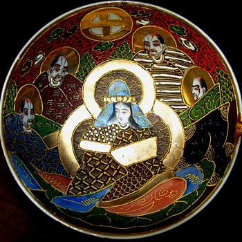 Meiji Bowl with Kannon and Arhats