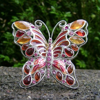 Vintage Monet Butterfly Brooch - Costume Jewelry