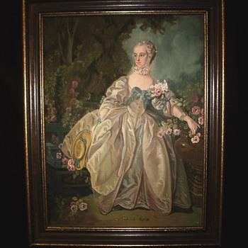 "Unknow Artist""Madame de Pompadour"" XX Century - Visual Art"