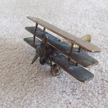WW1 Sopwith Triplane Trench Art - Military and Wartime