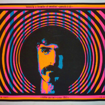 1968 day-glo silkscreen poster featuring &quot;A Mother Portrait&quot; of the inimitable Frank Zappa by artist Rik Vig.