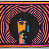 "1968 day-glo silkscreen poster featuring ""A Mother Portrait"" of the inimitable Frank Zappa by artist Rik Vig."
