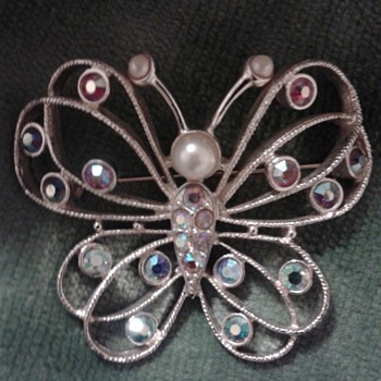Emmons Butterfly Brooch - Costume Jewelry