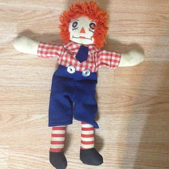 My newest Raggedy Andy doll Cloth button eyes
