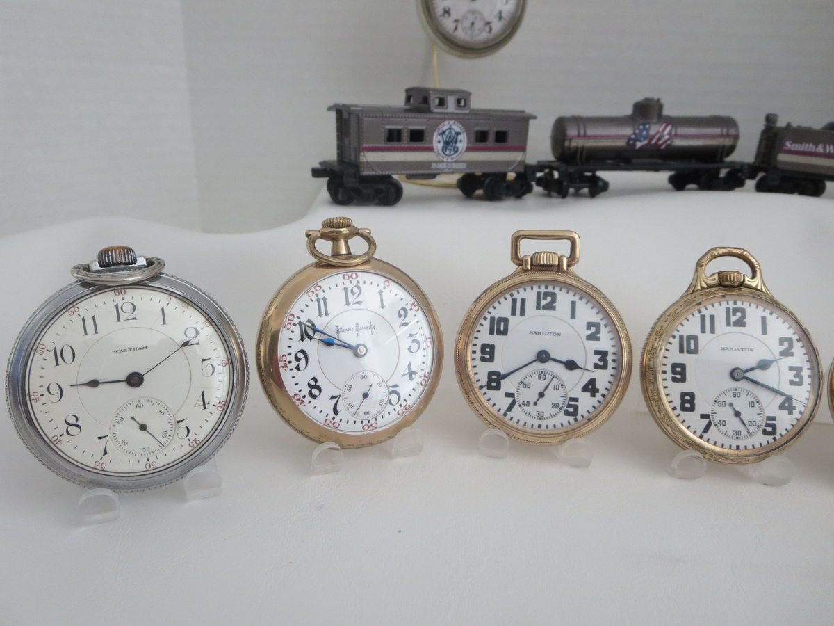 a few railroad grade pocket watches collectors weekly