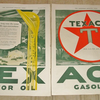 Texaco Motor Oil &amp; Gasoline Magazine Ad - Advertising