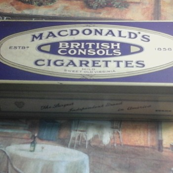 British Consols tin  - Tobacciana
