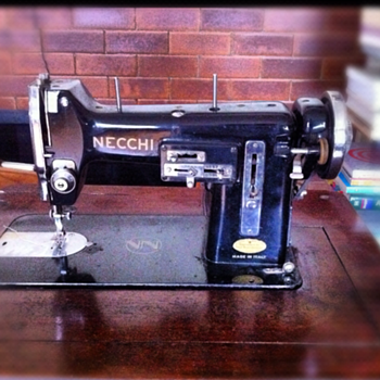 The classy Necchi BU sewing machine
