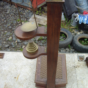 English Victorian personal weighing and hight scales  - Tools and Hardware