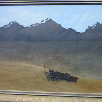 T.J. Scott 50 Western scene painting - Visual Art