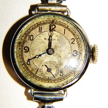 Vintage Deco Seiko Ladies Silver Wrist Watch