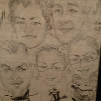caricature art signed group - Visual Art