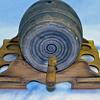 Uhl USA Pottery Stoneware Wine Keg Vintage w Stand