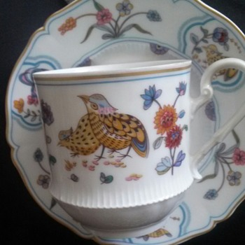 Haviland Limoges Golden Quail China