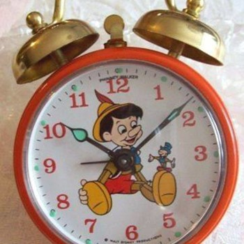 1969 Disney Phinney Walker Alarm Clocks - Clocks