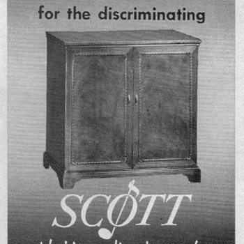 1951 - Scott Laboratories TV/Radio/Phono Advertisement