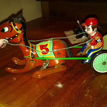 1950's Horse trotter wind up toy - Toys