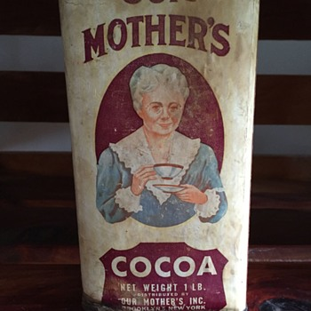 Our Mothers Cocoa Tin - Advertising