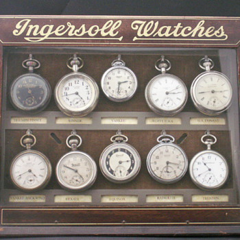 Ingersoll Store Display Case - Pocket Watches
