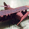 WW I Trench Art Biplane