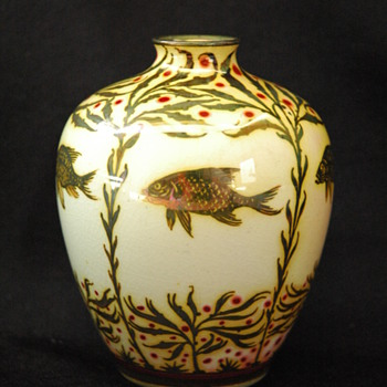 pillington's royal lancastrian lustre vase by RICHARD JOYCE - circa 1910 - Art Pottery