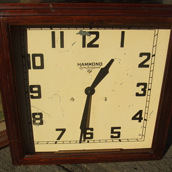 Hammond wall clock