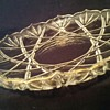 "Mikasa Hampshire Gold Cut Glass Hostess Serving Platter 12 1/2"" Made in Germany"