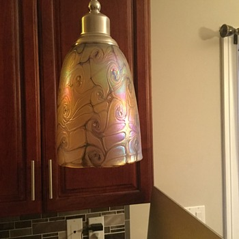 Iridescent pendant shade from  the Czech Republic