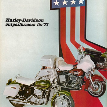 1971 - Harley Davidson Motorcycles Sales Brochure