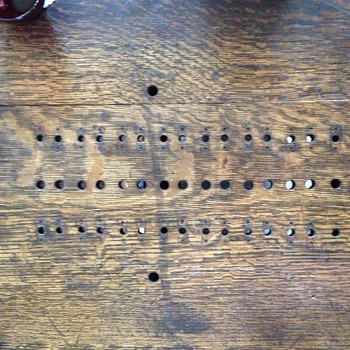Another pic of the peg holes. Anyone recognize this pattern?  - Games
