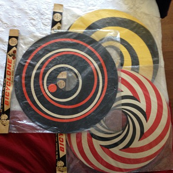 Bicycle  wheel covers from the 60's set of three  - Toys