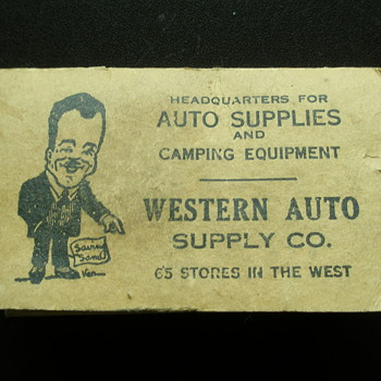 The Western Auto Supply Company Saving&#039;s Sam Map