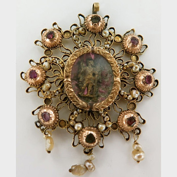 Possibly a Spanish (Iberian?) Devotional circa 1700's - Fine Jewelry