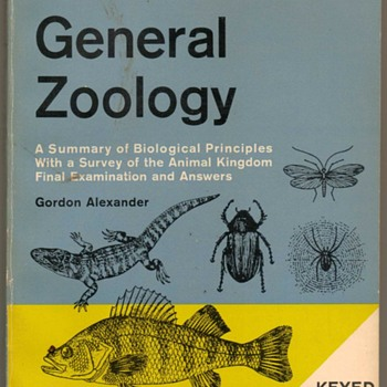 "1967 - ""General Zoology"" - College Studies Book - Books"