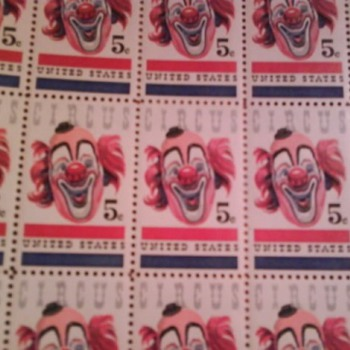 USA  CIRCUS  5 ct. postage stamps