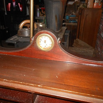 New Haven Clock Built into a Secretary Desk Early 1900s