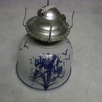 STONEWARE OIL LAMP - Lamps
