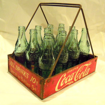 c. 1920 Coca-Cola Vendor Bottle Carrier - Coca-Cola