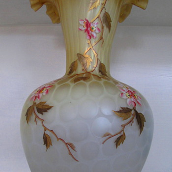 HARRACH ( Atlas glass c1885) A VASE TO BEHOLD