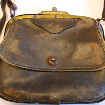 Military? or Postal? Leather and Brass Satchel -Possibly French - Bags