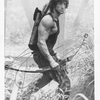 Sylvester Stallone First Blood II signed ink Autograph - Photographs