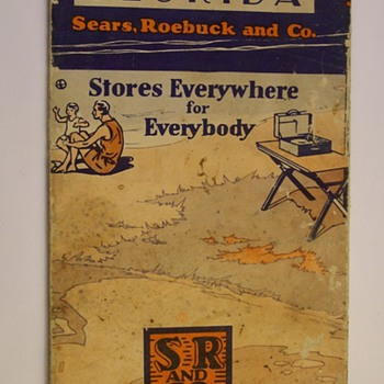 1929 Sears Robuck Florida Road Map
