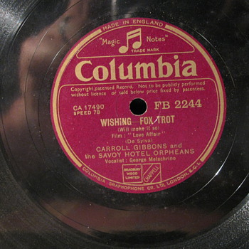 Four Old Columbia Label 78 rpms